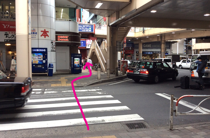 松戸市民会館への道のり1